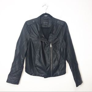 Sanctuary Black Vegan Leather Moto Jacket